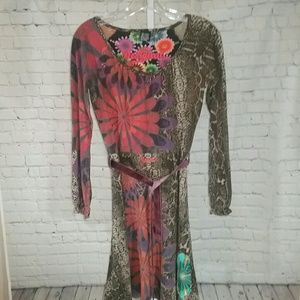 Desigual Long Sleeve Knit Dress